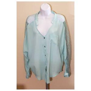 Women's Mint Green Blouse